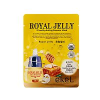 ekel тканевая маска для лица с экстрактом маточного молока royal jelly ultra hydrating essence mask