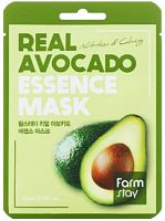 farmstay маска для лица тканевая с экстрактом авокадо real avocado essence mask