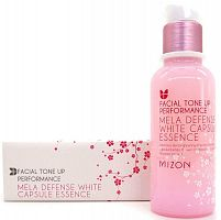 mizon эссенция для лица facial tone up performance mela defense white capsule essence