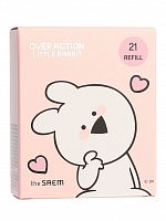 the saem rabbit тональный крем (кушон) сменный блок (over action rabbit)eco soul power stay cushion 21 13гр