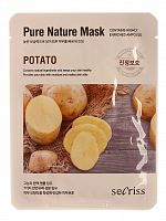 anskin secrisecret skin маска для лица тканевая secrisecret skin pure nature mask pack-potato 25мл