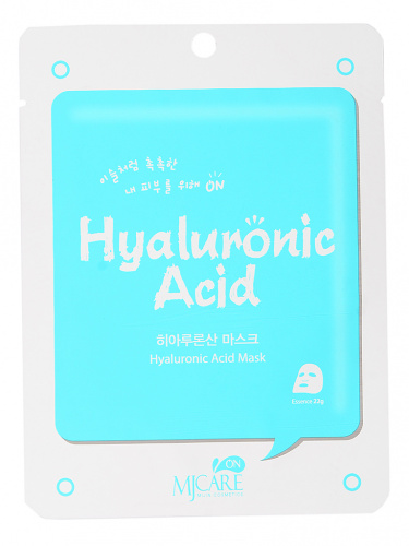 mijin mj care маска тканевая для лица с гиалуроновой кислотой mj on hyaluronic acid mask pack 22гр
