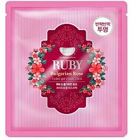 koelf гидрогелевая маска с рубиновой пудрой и болгарской розой ruby bulgarian rose mask pack