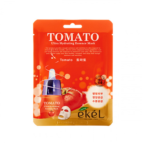 ekel тканевая маска для лица с экстрактом томата tomato ultra hydrating essence mask