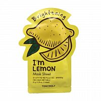 tonymoly тканевая маска для лица с экстрактом лимона im lemon mask sheet brightening