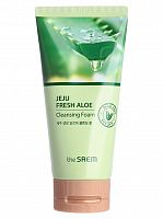 the saem aloe пенка для умывания jeju fresh aloe cleansing foam 150гр