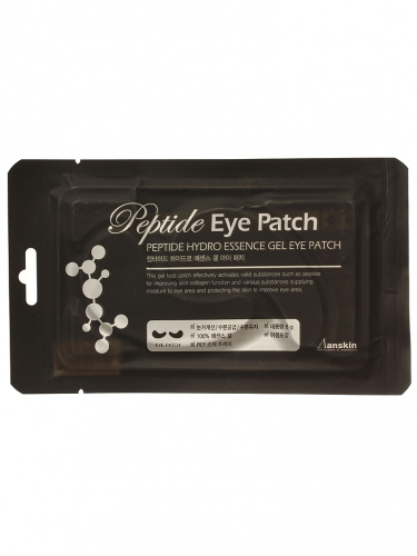 anskin патчи для глаз peptide hydro essence gel eye patch 8g