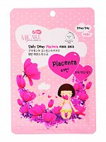 mijin daily dewy маска тканевая для лица с плацентой  mj care daily dewy placenta mask pack 25гр