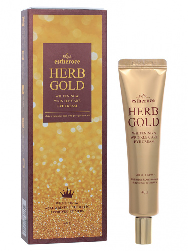 deoproce herb gold крем для век омолаживающий estheroce herb gold whitening & wrinkle care eye cream 40g