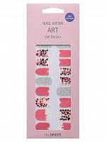 the saem nail наклейки для ногтей nail wear art gel sticker 07