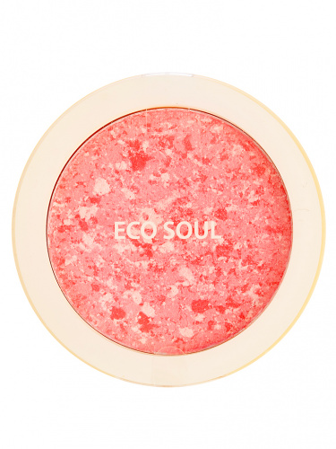 the saem eco soul румяна компактные 01 eco soul carnival blush 01 rose  9,5гр