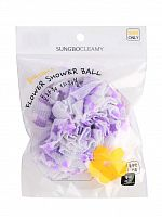 sung bo cleamy clean&beauty мочалка для душа flower shower ball 1шт