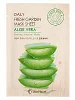 mijin daily fresh маска тканевая для лица алое skin planet daily fresh garden mask sheet aloe vera 25гр