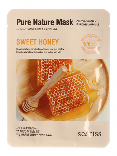 anskin secrisecret skin маска для лица тканевая secrisecret skin pure nature mask pack-sweet honey 25мл