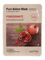 anskin secrisecret skin маска для лица тканевая secrisecret skin pure nature mask pack-pomeganate 25мл