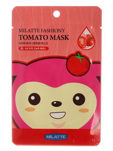 milatte маска на тканевой основе для лица томатная fashiony tomato mask sheet 21гр