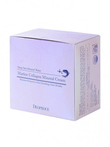 deoproce cream крем для лица морской коллаген marine collagen mineral cream  100гр