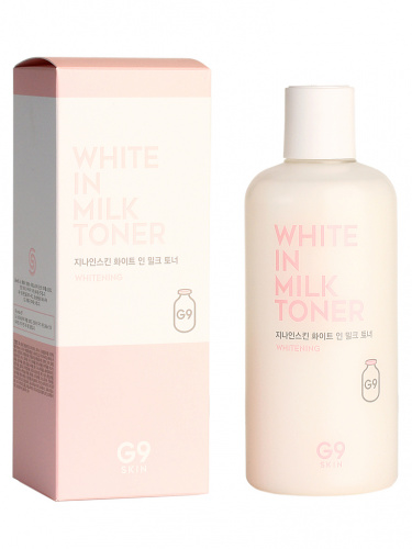 g9skin white in тонер для лица осветляющий  g9skin white in milk toner 300мл