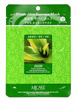 mijin essence маска тканевая для лица алоэ fresh aloe essence mask 23гр