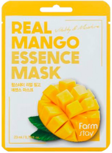farmstay маска для лица тканевая с экстрактом манго real mango essence mask