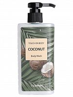 the saem touch on body гель для душа touch on body coconut body wash 300мл