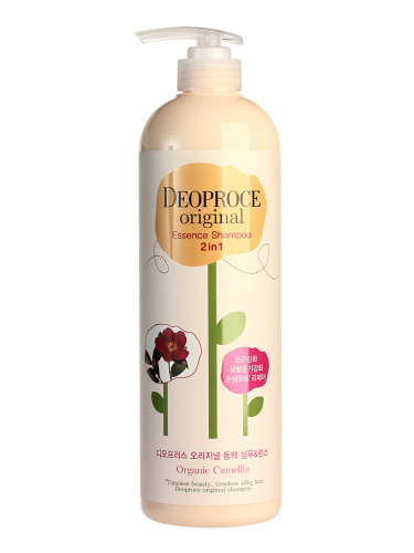deoproce hair шампунь-бальзам 2 в 1 камелия original essence 2in1 shampoo camellia 1000ml 1000мл