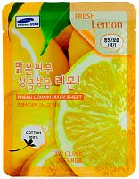 3w clinic тканевая маска для лица с экстрактом лимона fresh lemon mask sheet